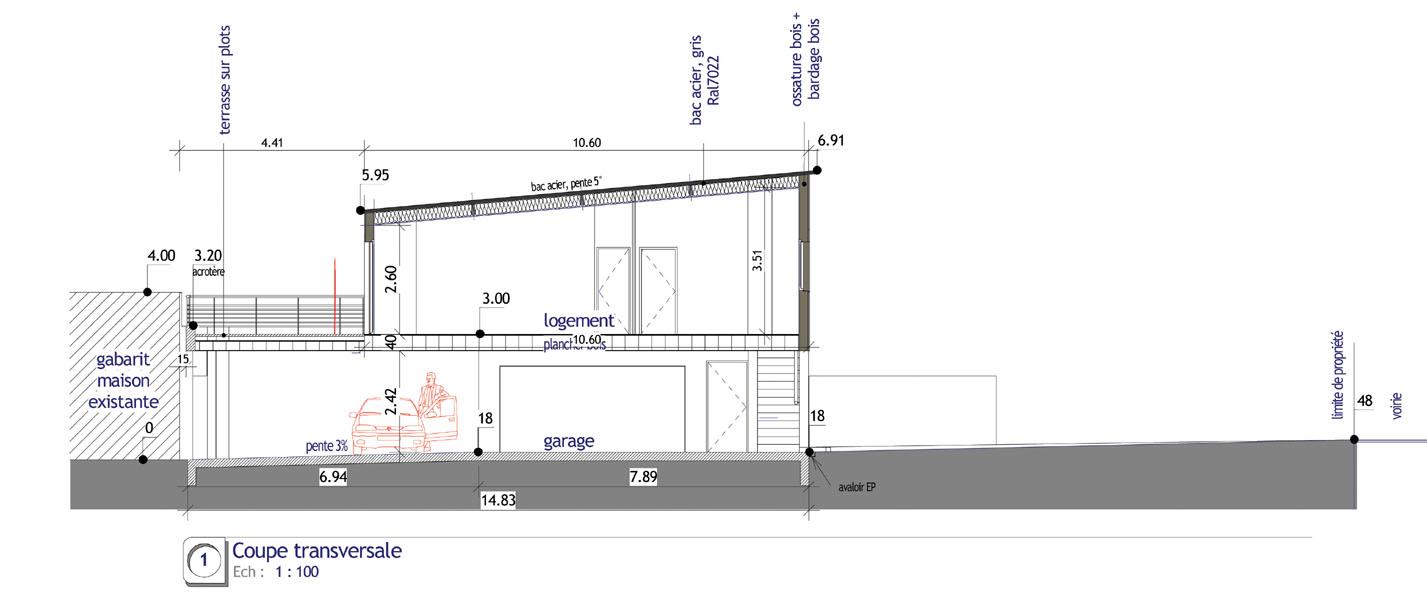 Mai09210 lefevrelafaye - Plan en coupe permis de construire ...
